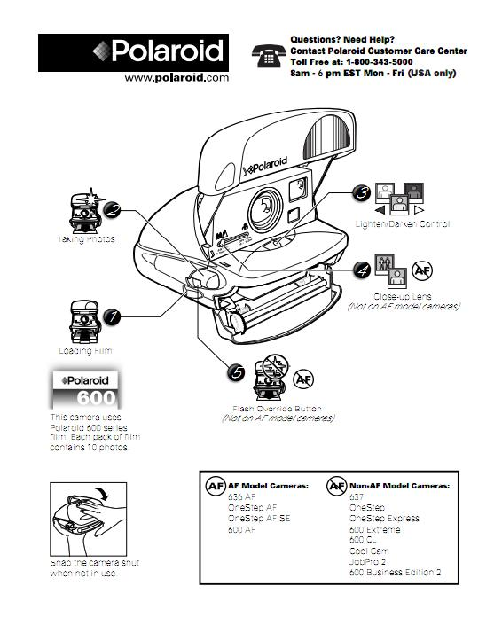 manual polaroid serie 600 c maras polaroid rh camaraspolaroid wordpress com Polaroid OneStep Manual Polaroid Sun 6 00 Manual